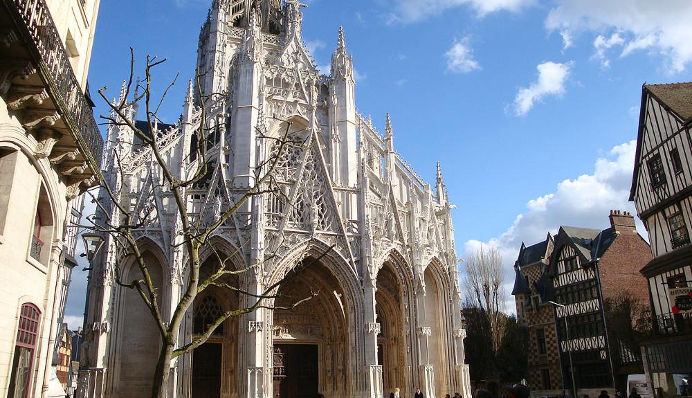 Kerk van saint maclou in rouen seine maritime normandi bezienswaardigheden - Saint maclou tapijt van gang ...