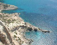 De westkust van Ibiza